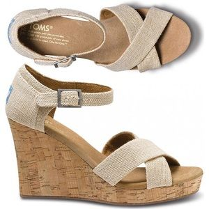 Toms Sierra Strappy Wedge Sandal